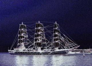fantasy, sailboat, sea