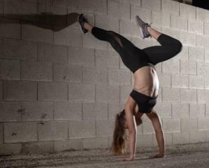 фитнес, ноги, живот, стена, спорт