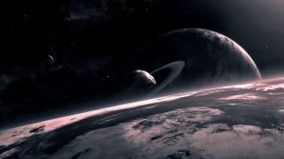 космическая планета космическое искусство, планетарные кольца