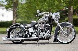 HARLEY-DAVIDSON, Softail, Heritage, La Catrina, motorcycle, AIRBRUSH