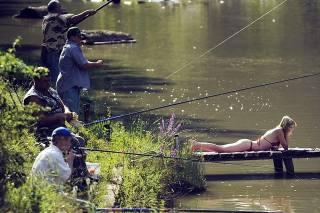 fishing, river
