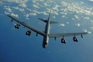 the plane, bomber, B-52, flight