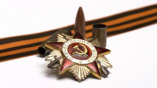 May 9, victory day, war, weapons, tape, star, bullets, background, texture