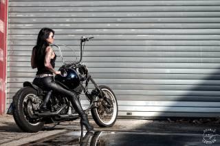 motorcycle, biker, helmet