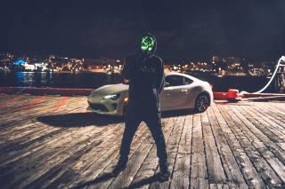 mask, аноним, hood, Auto, glow, молчание