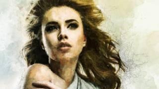 Художественный рисунок, девушка, лицо, волосы