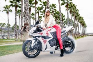 motorcycle, girl, the bike