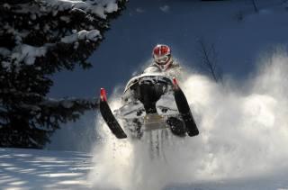snowmobile, snow, winter