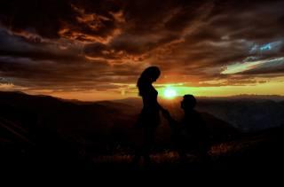 lidé, hory, Láska