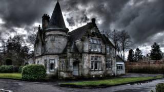 будинок, хмари, похмуро, готика