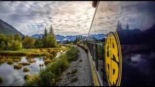 Железнодорожного, транспортного средства на Аляске небо, пейзаж облака
