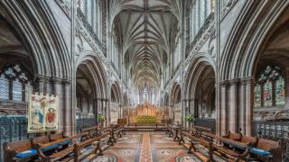 Cathedral, Личфилд, interior, England