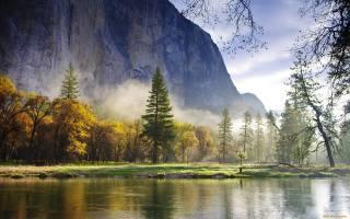 hory, les, voda, příroda