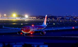 аэропорт, самолет, город