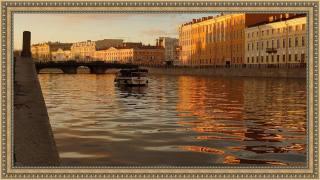 Petersburg, river, Фонтанка, boat, promenade