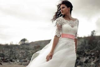 девушка, на природе, невеста