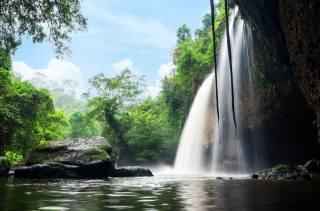 Thailand, nature, tropics, джунгли. скала, stones, waterfall