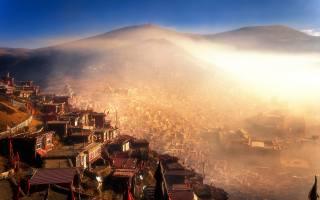 Seda Monastery, Seda, fog, Sertar, Kham, tibet, asia