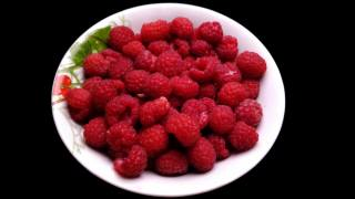 raspberry, plate, background
