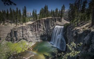 příroda, krajina, hory, skály, stromy, vodopád