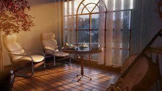 bathroom, window, table, the tea party, chairs