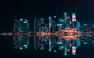 Шанхай, ночной город, Huangpu River, nightscapes, небоскребы, Китай, Азии