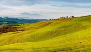 meadows, hills, pastures, mountains, the sky, Dmitry Isakov