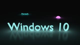 в Windows 10, текст, логотип