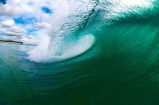 vlna, krásně, sprej