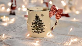 Праздничная, Cup, cocoa, маршмеллоу