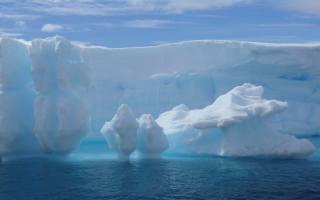 айсберг, зима, лед
