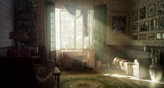 interior, old, render, bathroom, window