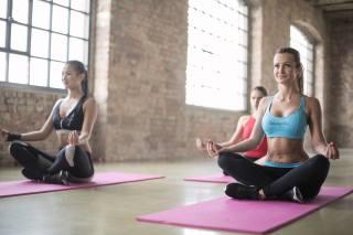 фітнес, поза лотоса, йога