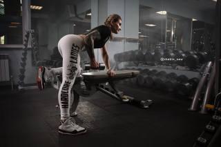 girl, the gym, training