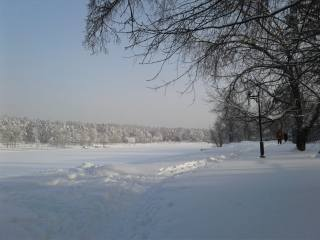 snow, space