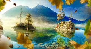 nature, autumn, mountains