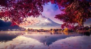mountain, Fuji, завораживающий, view