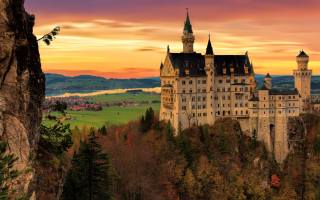 castle, Neuschwanstein, Лебединый замок, Germany