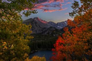 mountains, autumn, Alps, the top