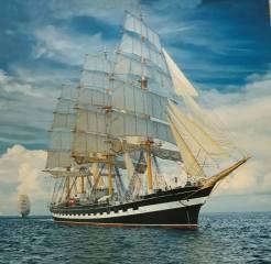 паруса, море, волны