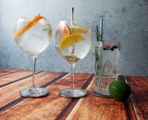 cocktail, gin, тоник, fruit