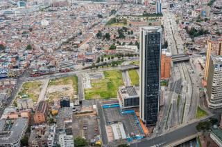 богота, Колумбия, город, панорама