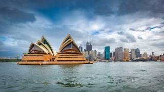 сидней, Австралия, панорама, оперный театр