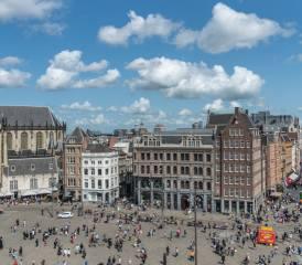 амстердам, нидерланды, город, пейзаж