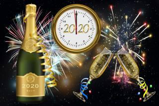 Новый год, праздник, 2020