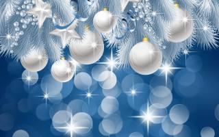Новый год, 2020, праздник, Игрушки, Шары, белые, зима, веселье