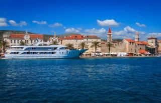 Croatia, home, Pier, ship, Trogir, Bay, the city