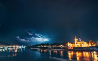 Kaunas, the city, night