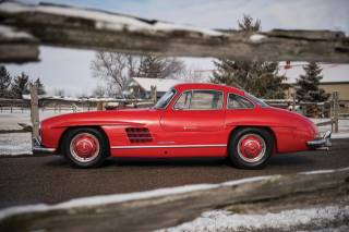 Red, 1950s, Mercedes, 300sl