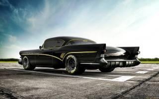American, car, custom